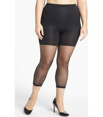 women's spanx power capri control top footless pantyhose