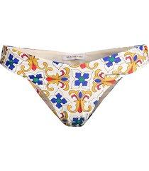 weworewhat women's delilah tile-print bikini bottom - pearl multicolor - size xl