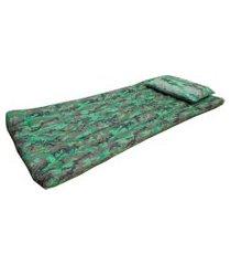 colchonete com travesseiro fa colchões verde