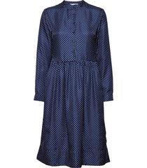 mila dress jurk knielengte blauw nué notes