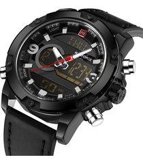 naviforce nf9097g reloj digital analogo militar negro