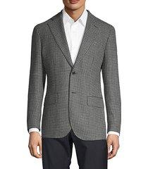 wool & linen houndstooth blazer