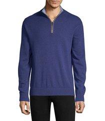 greyson men's sebonack wool & cashmere quarter-zip sweater - owl - size xl