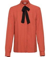 camicetta con fiocco (marrone) - bodyflirt
