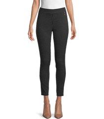 tommy hilfiger women's dot-print cropped pants - jet black - size 2