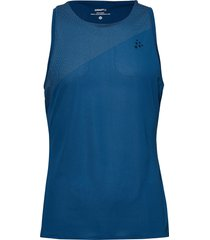 nanoweight singlet m t-shirts sleeveless blå craft