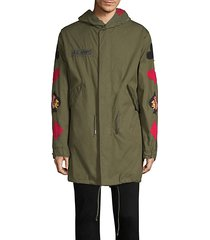 cards embroidered parka