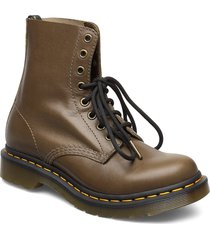 1460 pascal shoes boots ankle boots ankle boots flat heel brun dr. martens