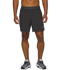 asics(r) road 2-in-1 shorts, size medium in performance black at nordstrom