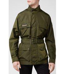 belstaff men's trialmaster xl500 jacket - rifle green - it 50/l