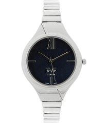 reloj plateado-azul versace 19.69