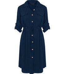 knopen jurk marineblauw
