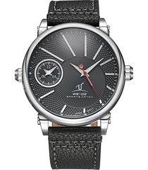 reloj weide 1508 1c acero inoxidable black diseño militar