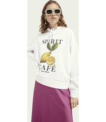 scotch & soda graphic loose-fit hoodie