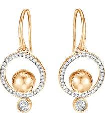 'dot' diamond 18k yellow gold hoop drop earrings