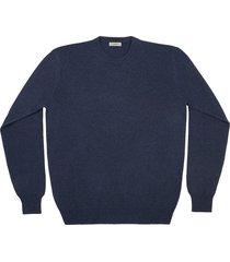 maglione da uomo, linsieme, 100% lana blu, autunno inverno