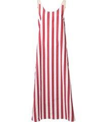 lee mathews simone scoop back maxi dress - red