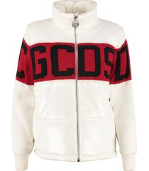 gcds full zip padded jacket