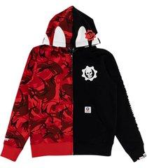 aape by *a bathing ape® x xbox gears 5 zip-up hoodie - black