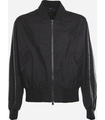 fendi technical fabric jacket with all-over ff vertigo motif