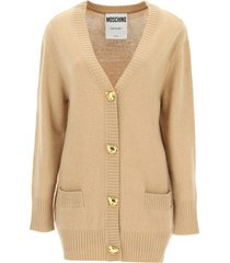 moschino oversized cardigan with teddy bear buttons