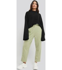 na-kd basic basic slip pants - green