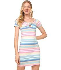 vestido lez a lez curto waves rosa/verde - rosa - feminino - algodã£o - dafiti