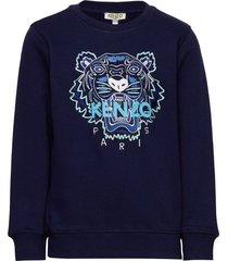 tiger jb b2 sweat-shirt trui blauw kenzo