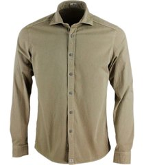 sonrisa luxury shirt in soft and precious stretch cotton with french collar and buttons in worked metal effect