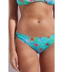 calzedonia bottom swimsuit santo domingo woman blue size 5