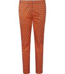enkellange broek minimal-print van laura biagiotti roma oranje