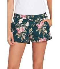 women's volcom frochickie chino shorts, size 28 - green