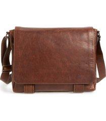 men's frye 'logan' messenger bag - brown