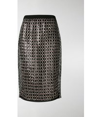 marco de vincenzo sequin pencil skirt