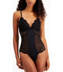 inc women's lace thong bodysuit, created for macy's