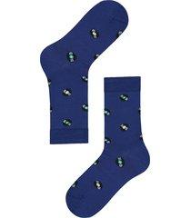 calzedonia - lisle thread ankle socks, one size, blue, men