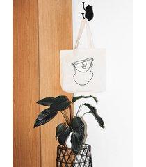 popiersie tote bag shopper torba eco z nadrukiem