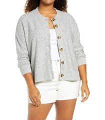 plus size women's madewell caramel apple cardigan, size 3x - grey