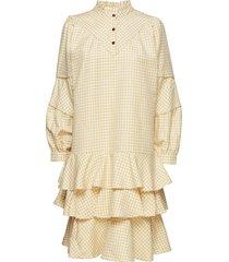 posagnes dress korte jurk geel postyr