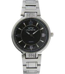 reloj plateado montreal strass black