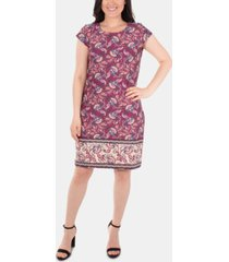 ny collection printed shift dress