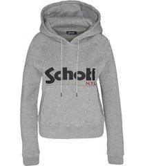 sweater schott sweatshirt à capuche femme sw ginger 2 w heather grey