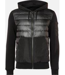 mackage men's will hooded bomber jacket - black - xxl