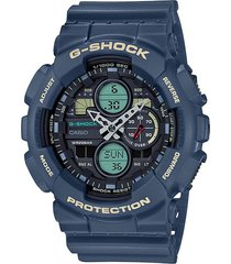 reloj g shock ga-140-2adr azul resina