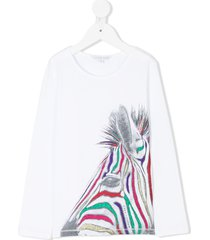 little marc jacobs lurex zebra top - white