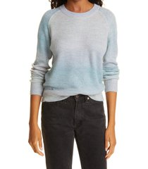 rails crewneck sweater, size xx-small in blue rainbow at nordstrom