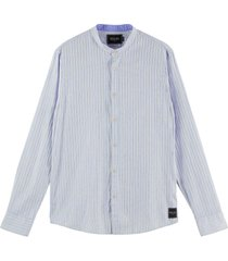 relaxed fit- collarless shirt