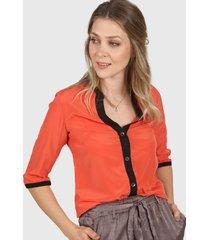 camisa naranja donadonna cam201