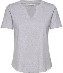 leia s/s top t-shirts & tops short-sleeved grijs odd molly