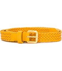 bottega veneta braided belt - yellow
